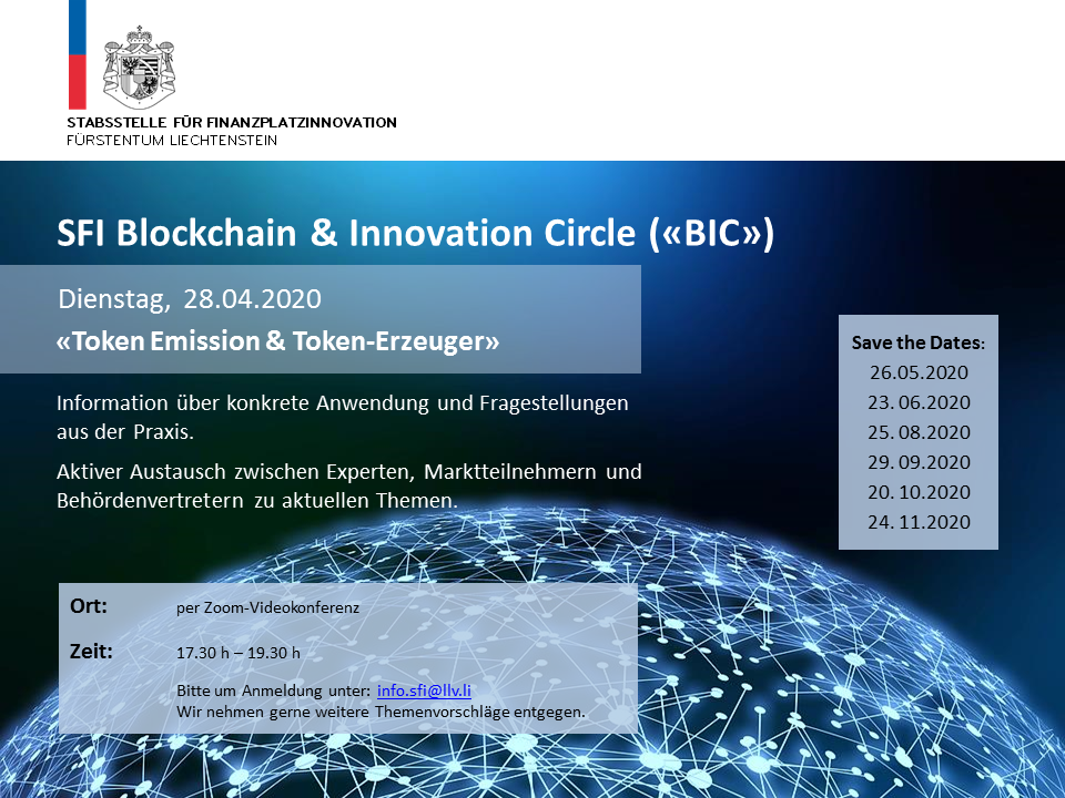 """SFI BIC """"Token Emission & Token-Erzeuger"""""""