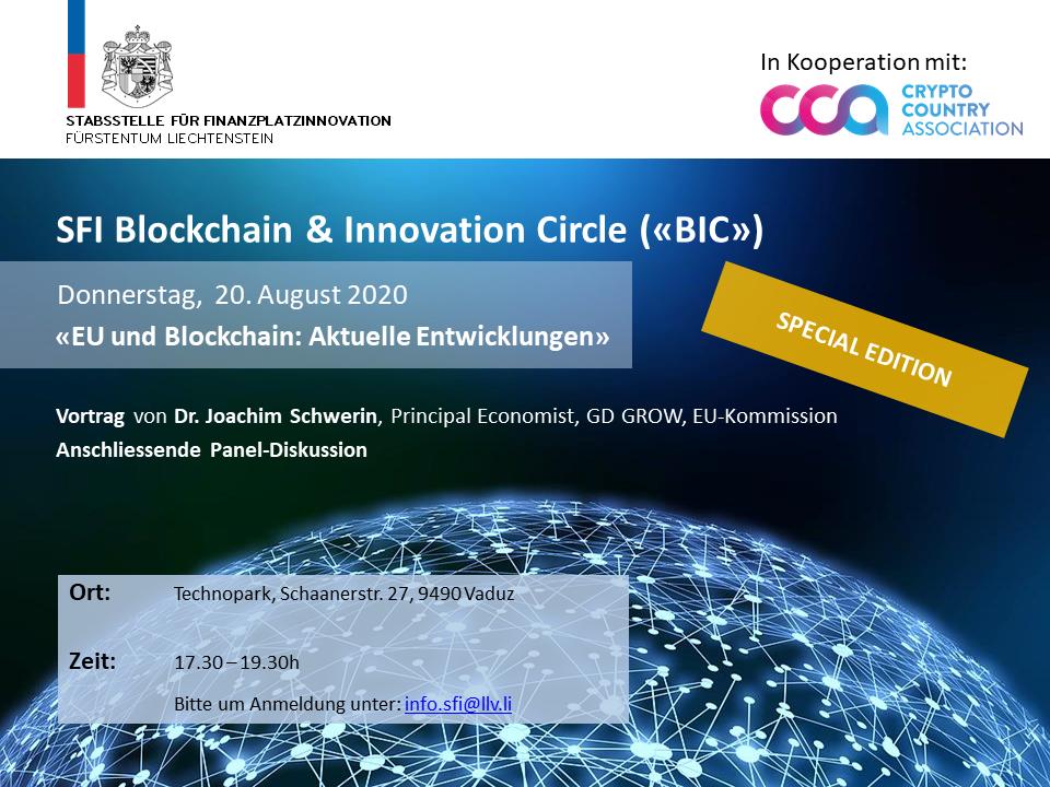 """SFI BIC """"EU und Blockchain: Aktuelle Entwicklungen"""""""