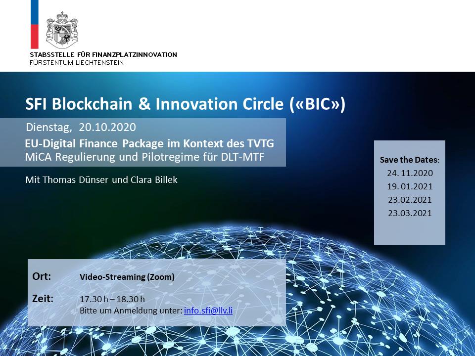 """SFI BIC """"EU-Digital Vinance Package im Kontext des TVTG"""""""